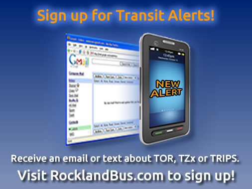 Transport of Rockland Announces Email and Text Message Service Alerts