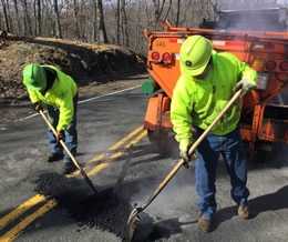 Contact the Rockland County Highway Department to report a pothole or other condition making a road uneven or unsafe.