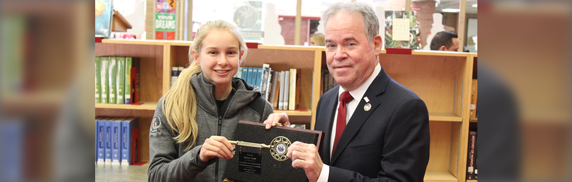 Key to the County Awarded to Katelyn Tuohy