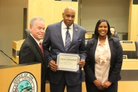 County Executive Day recognized Russell Crawford at the 2018 State of the County Address
