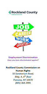 Human Rights Commission - Employment Discrimination Brochure - PDF
